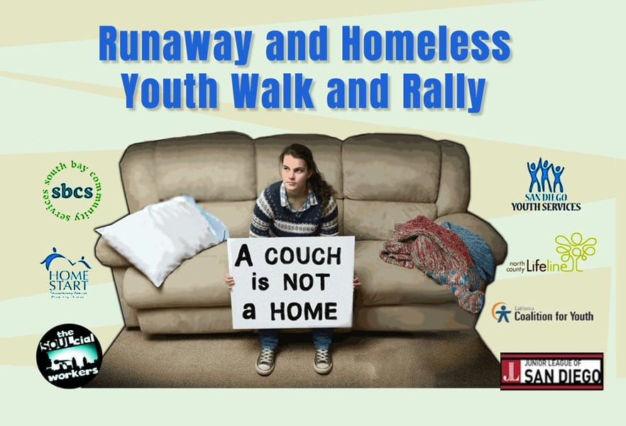 Runaway and Homeless Youth Walk and Rally Poster
