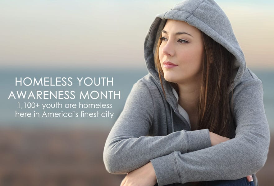 Homeless Youth Awareness Month banner