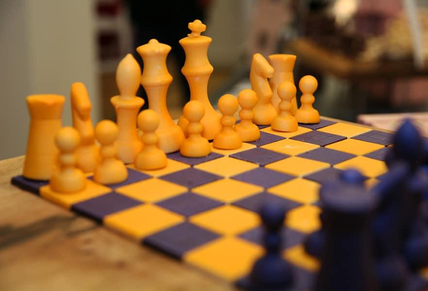 Chi Chocolat chess board