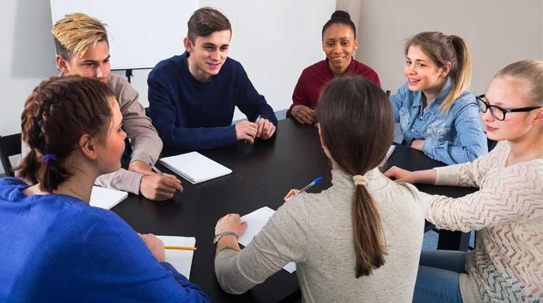 group teen meeting