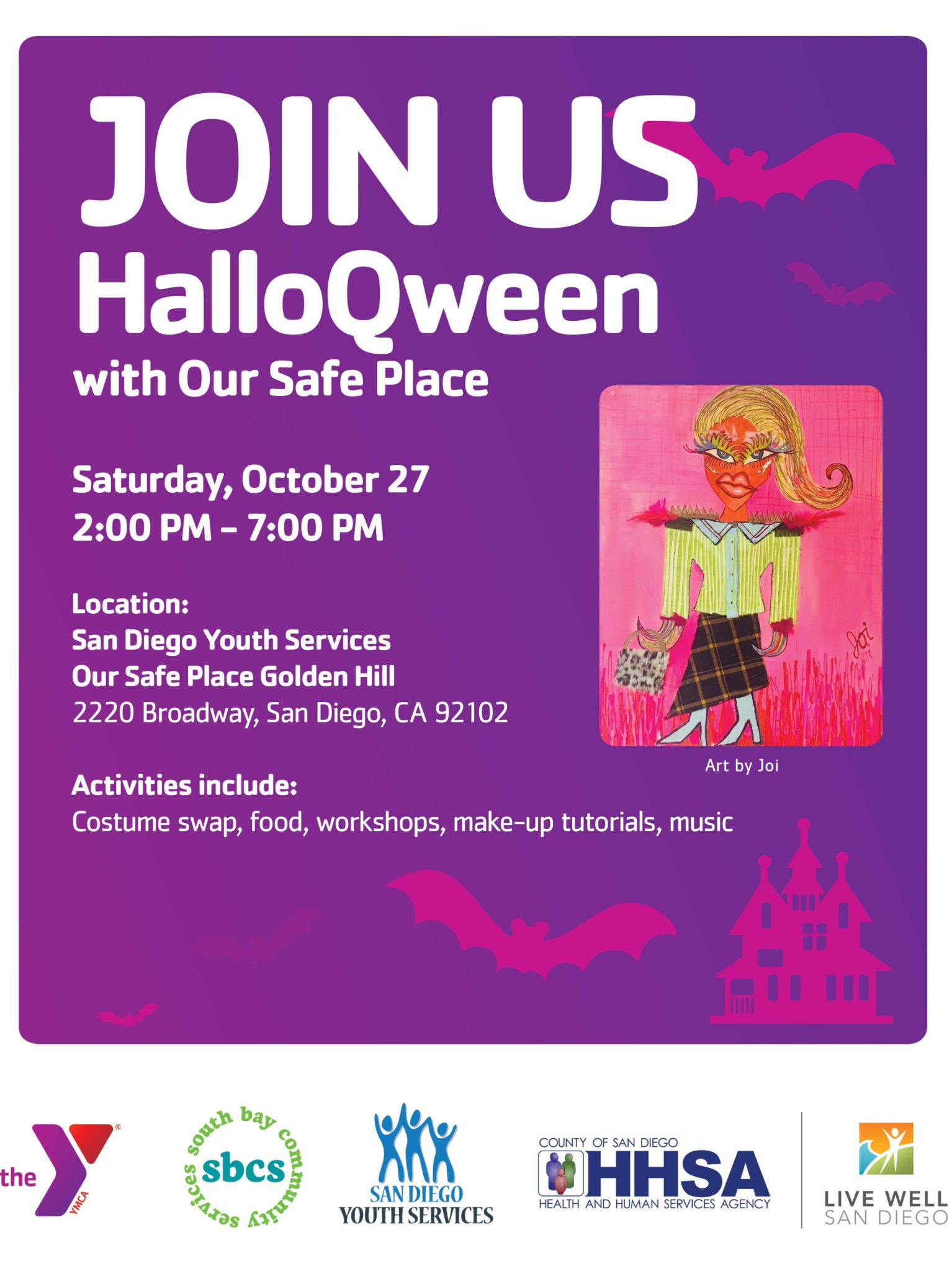 Our Safe Place HalloQween Flyer