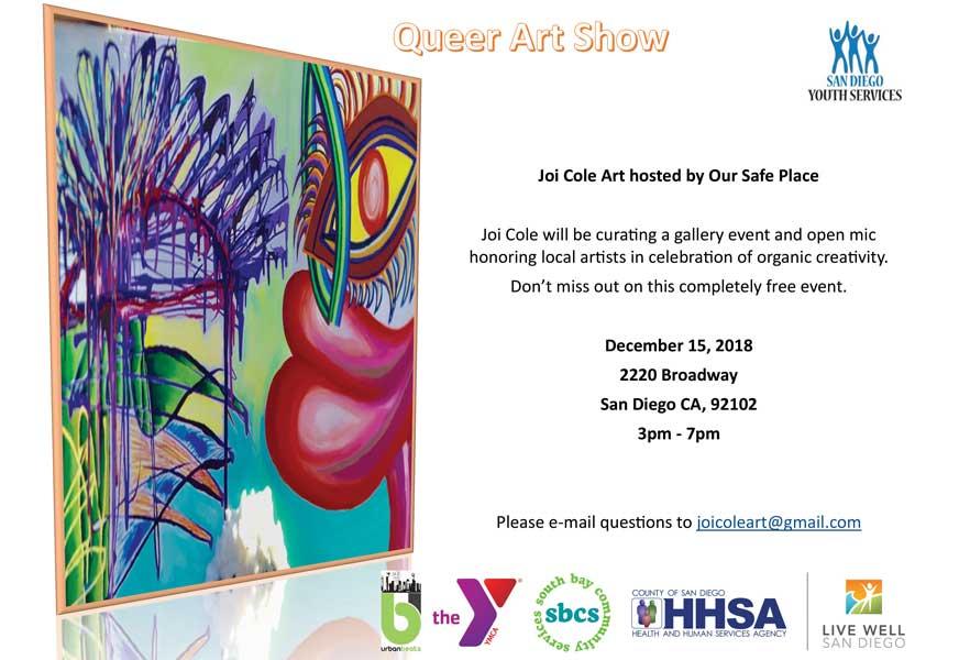 Queer Art Show Flyer
