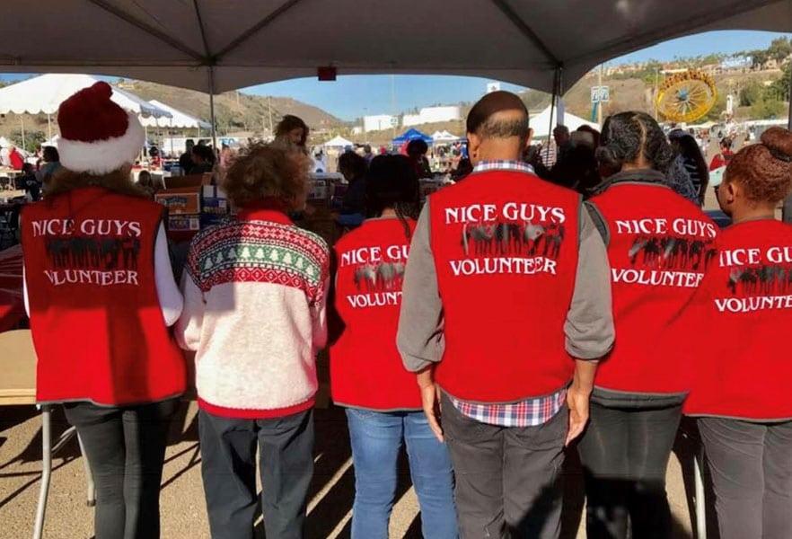 Nice Guys volunteers