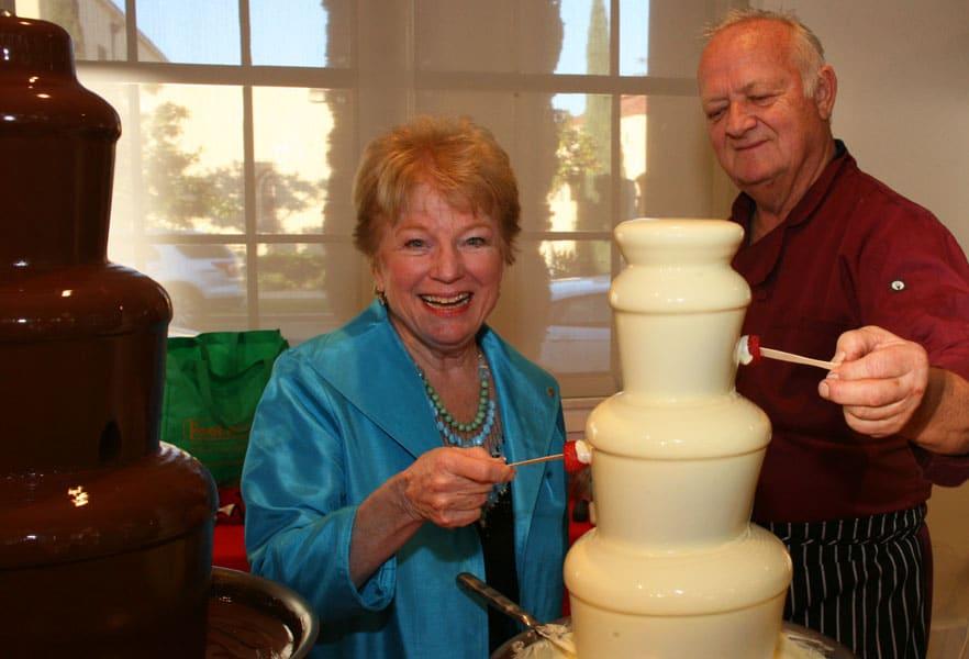 Suzy Spafford & Chef Urs Huwyler