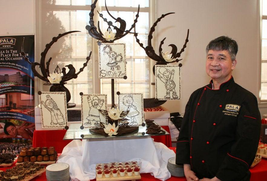 Pala Casino Spa | Chef Albert Cruz chocolate creation