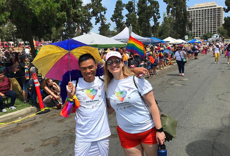 Our Safe Place parade participants