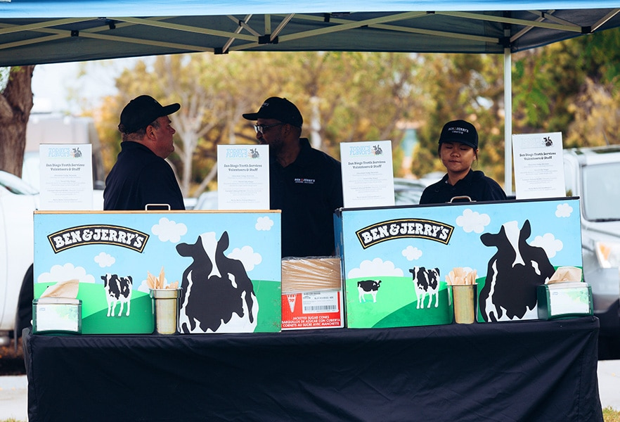 Ben & Jerry's donated ice cream for all