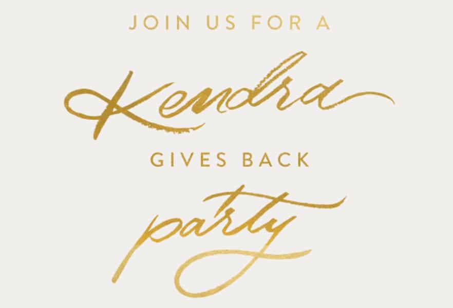 Kendra Scott Gives Back