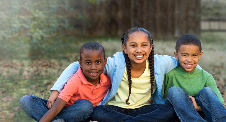 Three mixed ethnicity children slider