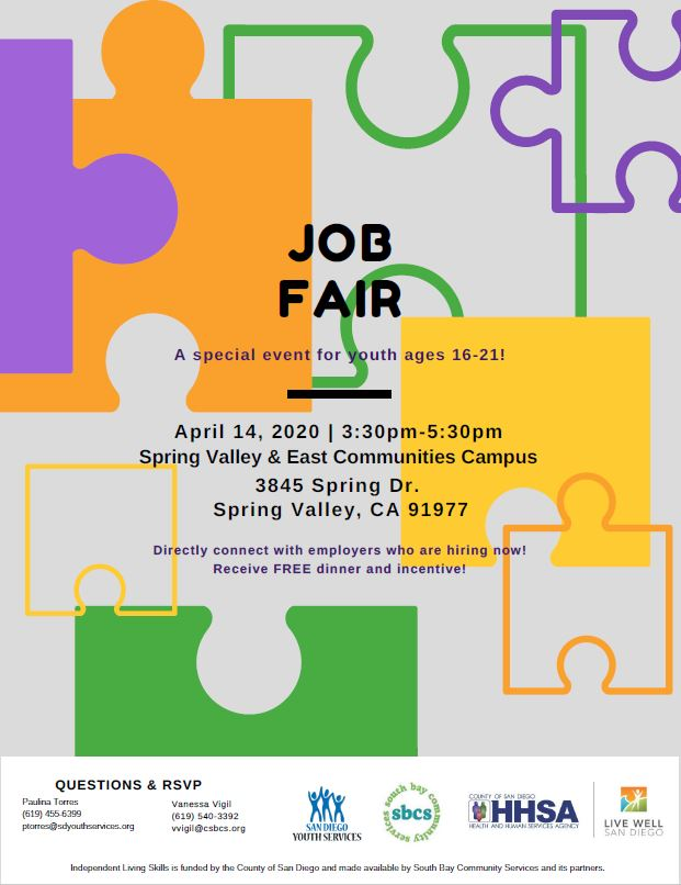 Job Fair @ Spring Valley & East Communities Campus