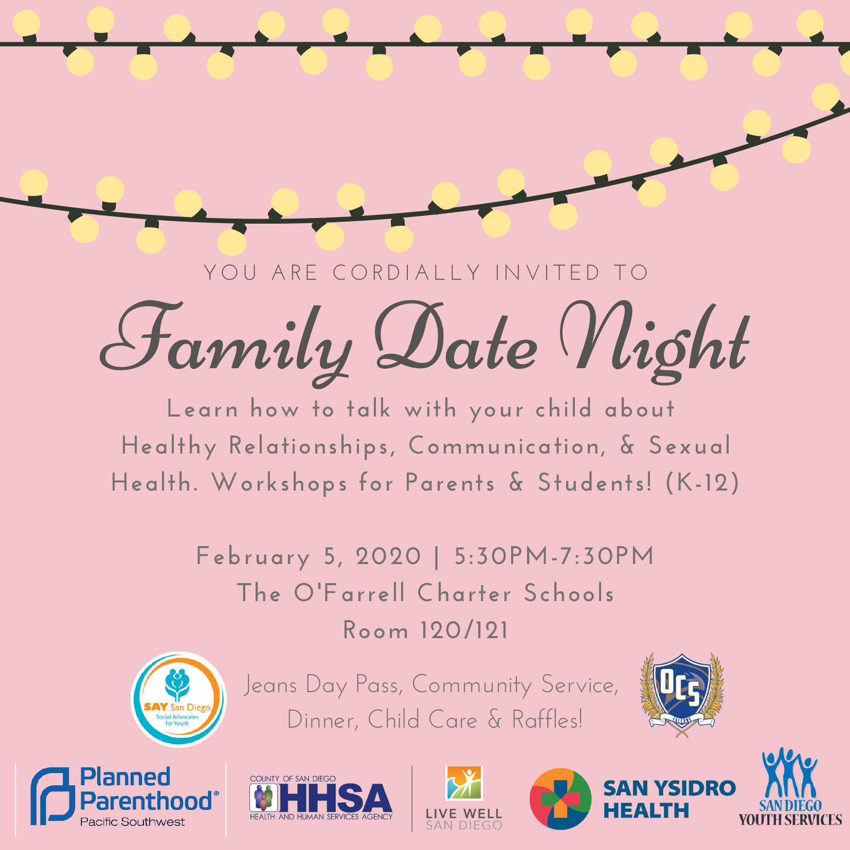 Family Date Night @ The O'Farrell Charter Schools