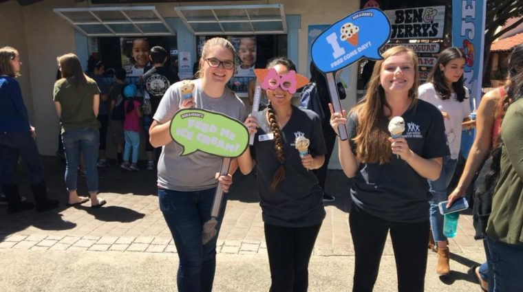 SDYS Staff at Free Cone Day