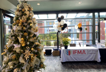 IFMA Holiday Social with decorated tree