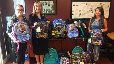 RICOH backpack donation