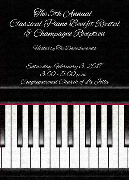 5th Annual Classical Piano Benefit Recital & Champagne Reception