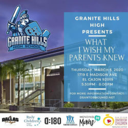 What I Wish My Parents Knew @ Granite Hills High School - Gymnasium