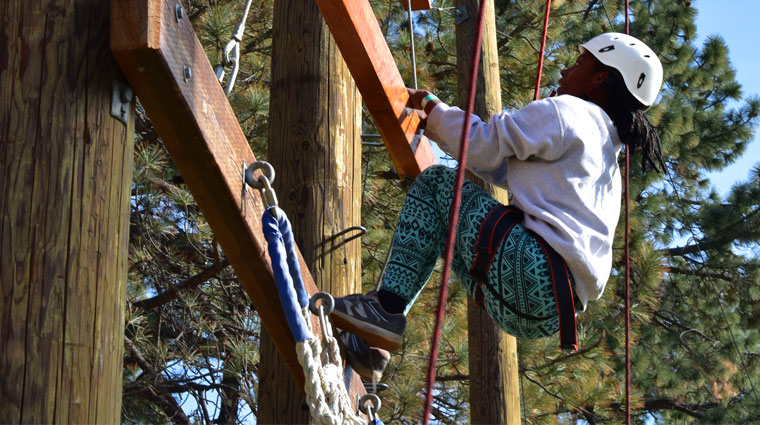 Youth Climbing at Camp Mariposa
